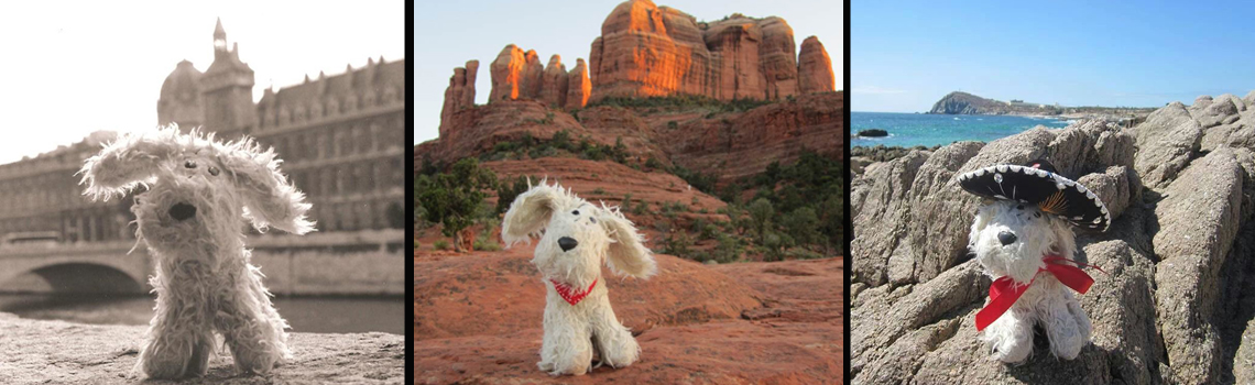 Chili Dog is the original globetrotting pooch that everyone wants to travel with. He turns every trip into a tail-wagging good time!